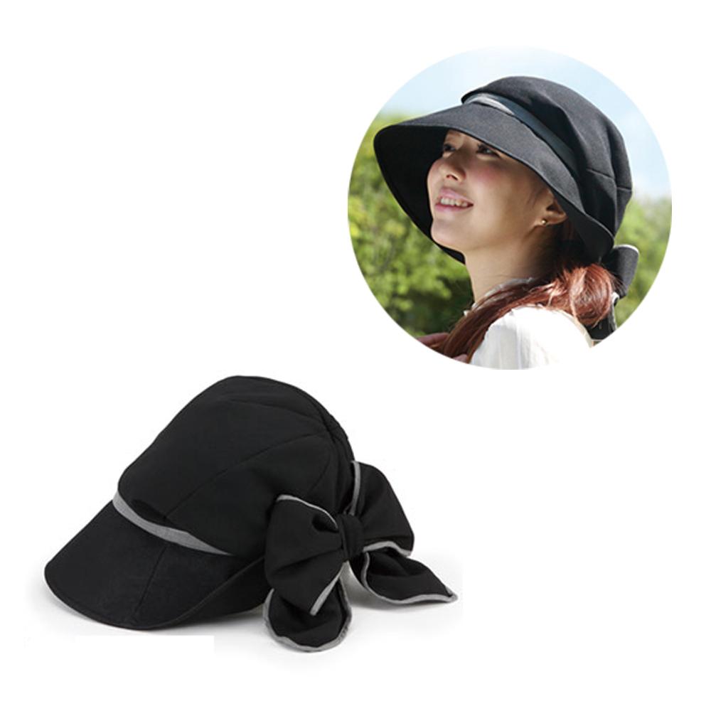 【日本Alphax】護髮小顏美型防曬帽(黑色)