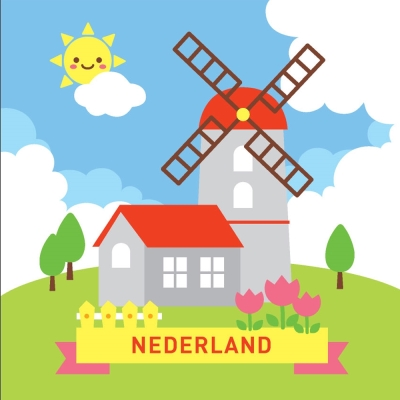 LOVIN 超萌韓版數字油畫 城市系列荷蘭(5) 1幅