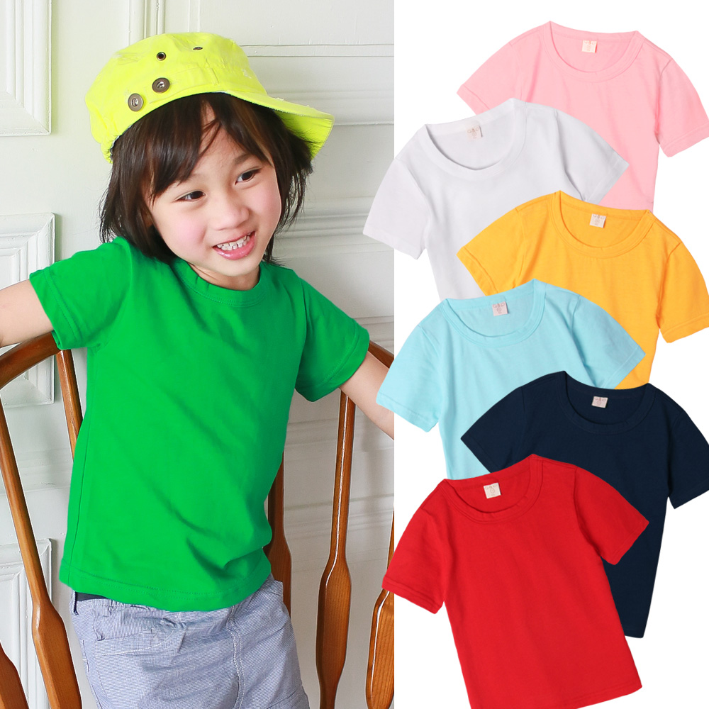 【baby童衣】兒童上衣 短袖圓領純色棉T-51089