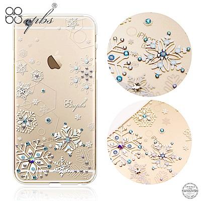 apbs iPhone6s/6 Plus 5.5吋 施華洛世奇彩鑽手機殼-紛飛雪