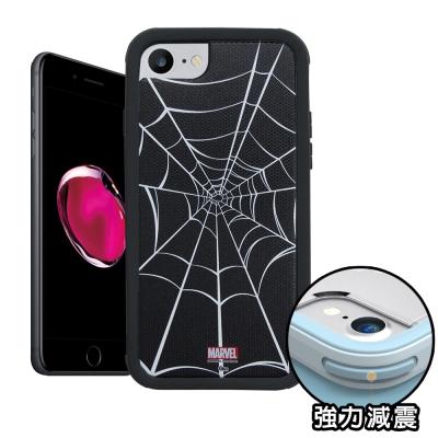 正版授權 iPhone 8/iPhone 7 蜘蛛人 軍規防摔保護殼(黑色蜘蛛網...