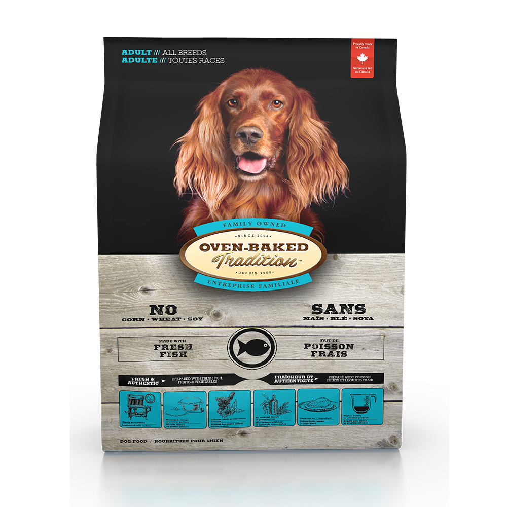 Oven-Baked烘焙客 成犬魚肉 (大顆粒) 天然寵糧 25磅 X 1包