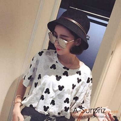 A-Surpriz-典雅皮線蝴蝶結遮陽帽-黑