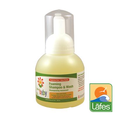 Lafe rsquo s organic純自然嬰兒洗髮沐浴露慕斯泡泡354ml