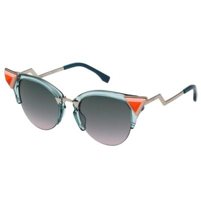 FENDI 寶石貓眼款 太陽眼鏡 (透明藍)FF0041NS