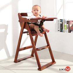 邏爵LOGIS BABY實木餐椅 折合餐椅 用餐椅 寶寶椅 無需組裝
