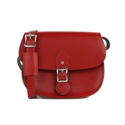 The Leather Satchel 英國手工牛皮馬鞍包 手拿 肩背包 心機紅