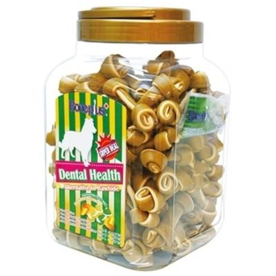 Bone Plus 黃金高鈣雙色潔牙骨結-家庭號《桶裝》