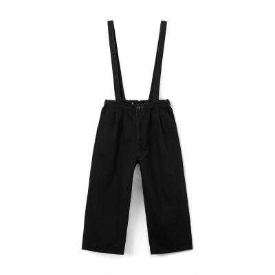 壓褶休閒吊帶褲-兩色-CACO