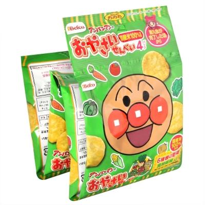 栗山米果 麵包超人4連野菜仙貝(40g)