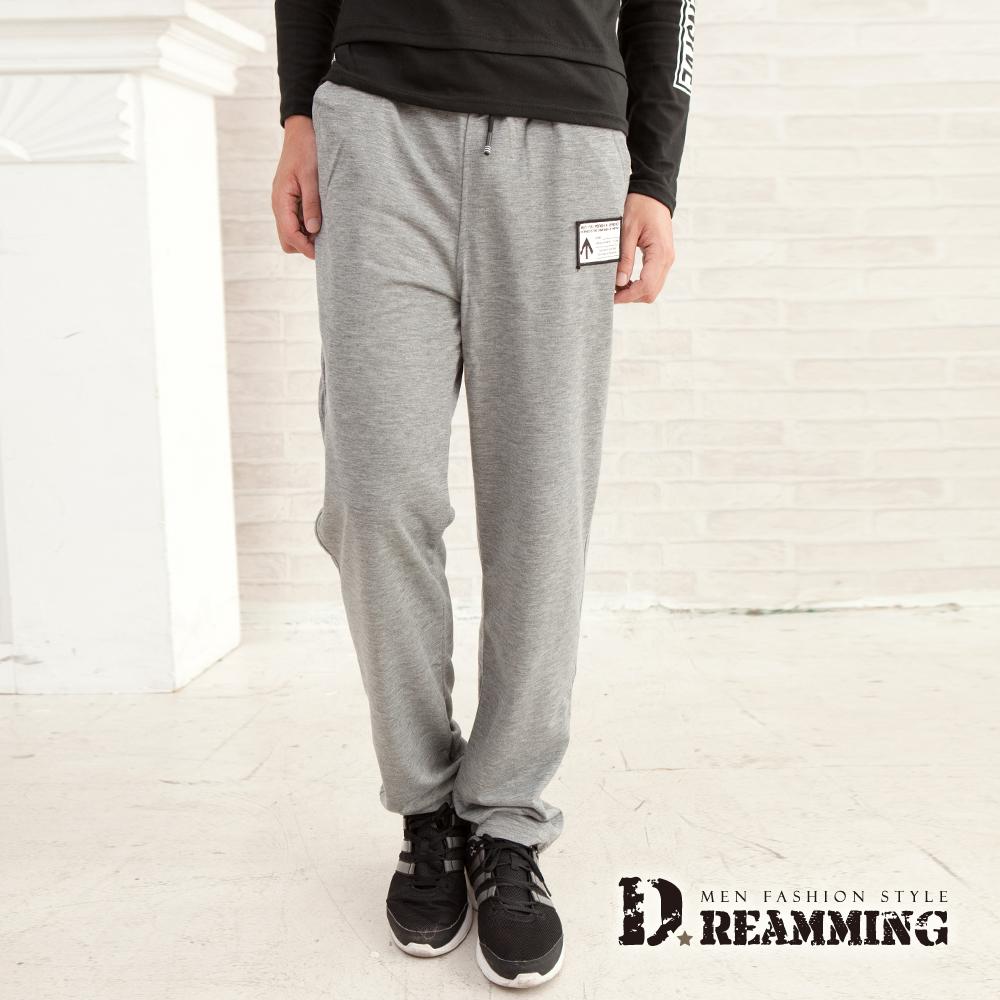 Dreamming 韓風潮款布標休閒運動棉褲-共三色