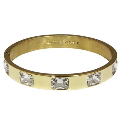 MICHAEL KORS Black Friday系列晶鑽鑲飾扣式手環-金色(附禮盒)
