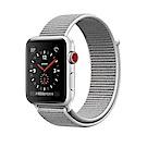 Apple Watch GPS+Cellular 42mm 銀色鋁金屬殼/貝殼白運動錶環