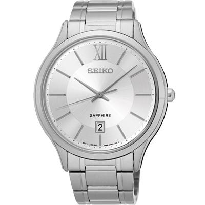 SEIKO 城市簡約美學時尚腕錶(SGEH51P1)-銀/42mm