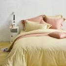 Cozy inn 簡單純色-奶茶金-200織精梳棉四件式被套床包組(雙人)