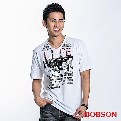BOBSON 男款印圖造型短袖上衣