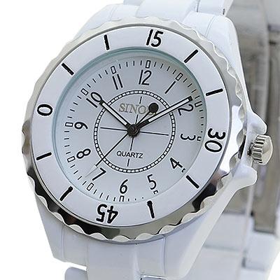 Watch-123 超級夢幻12 經典時尚腕錶-白/38mm