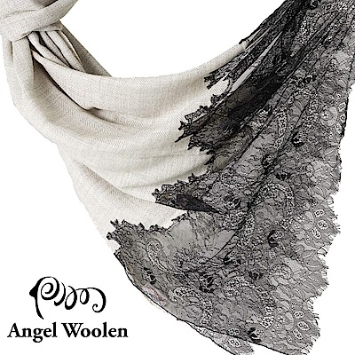 【ANGEL WOOLEN】印度手工法國蕾絲披肩圍巾(經典時尚)