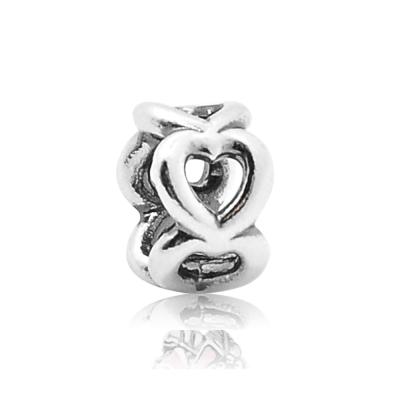 Pandora 潘朵拉 鏤空心型圈 純銀墜飾 串珠