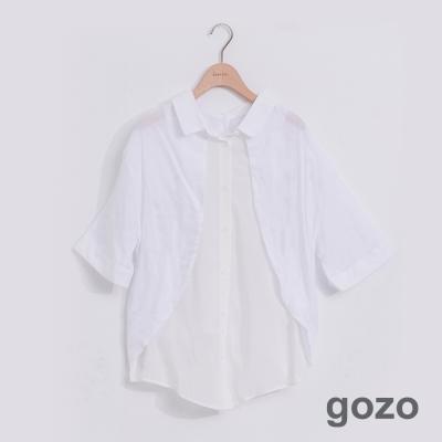gozo 隨興自由簡約拼接襯衫 (二色)