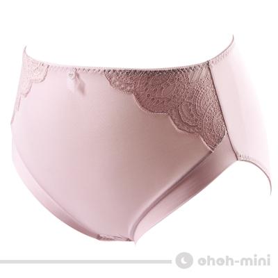 【ohoh-mini 孕婦裝】美肌Bra‧水潤白保濕纖維孕婦高腰內褲(古典粉)