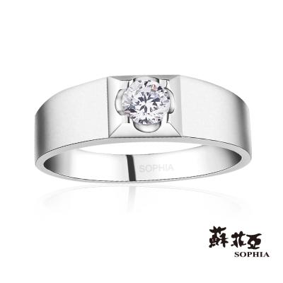 蘇菲亞SOPHIA 鑽戒 -甜蜜花漾0.20克拉男戒