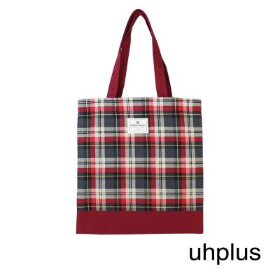 uhplus 學院格紋系列 散步手袋-又見康橋