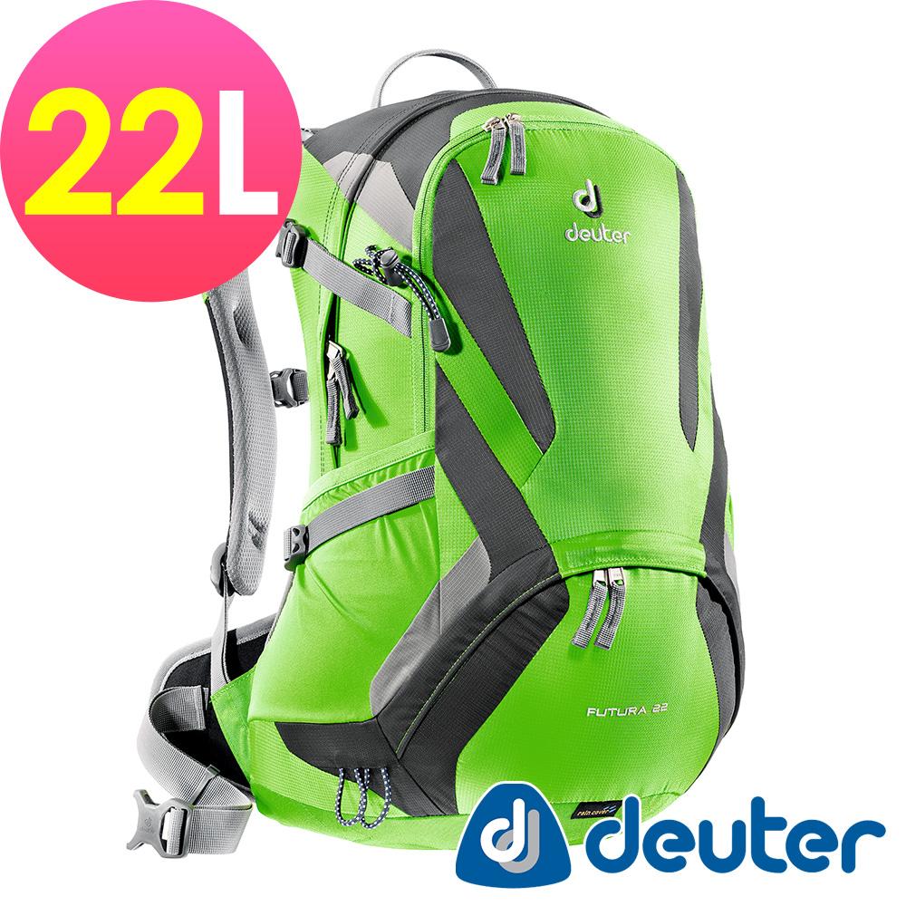 【ATUNAS 歐都納】德國DEUTER 網架直立式透氣登山後背包22L/34204綠