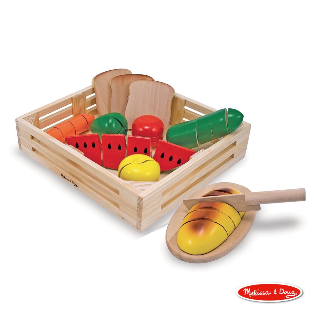 美國 Melissa & Doug木製玩食趣 - 【切食物】玩具組