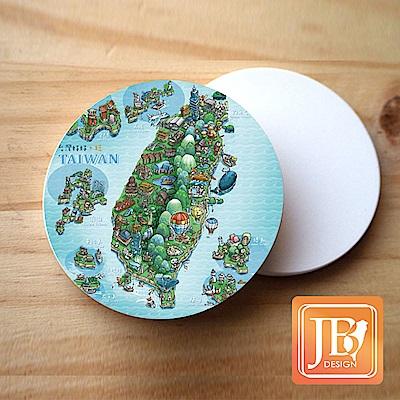 JB Design_就是愛台灣杯墊圓磁鐵-592_寶島天氣晴