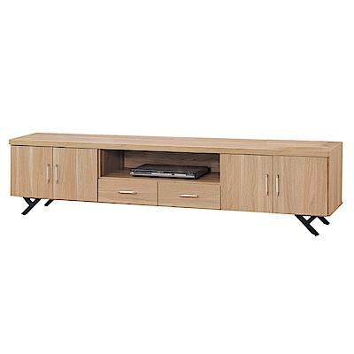 品家居 柏莫萊7.1尺橡木紋長櫃/電視櫃-212x40x52cm免組