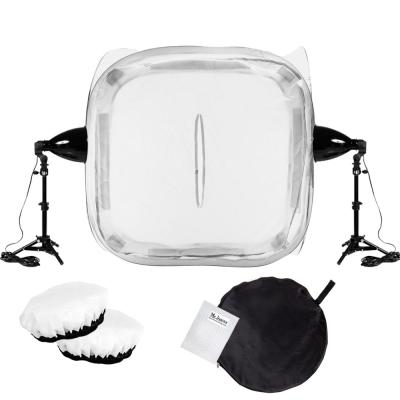 60CM中型攝影棚30W標準白光攝影燈套組-附專業柔光罩