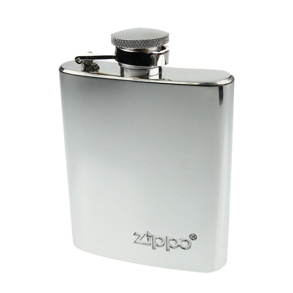【ZIPPO】不鏽鋼製-3盎司隨身酒壺(鏡面款)