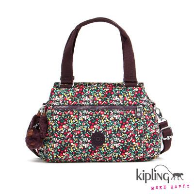 Kipling-手提包-田園小碎花紅