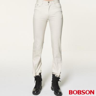 BOBSON 男款低腰白色喇叭褲