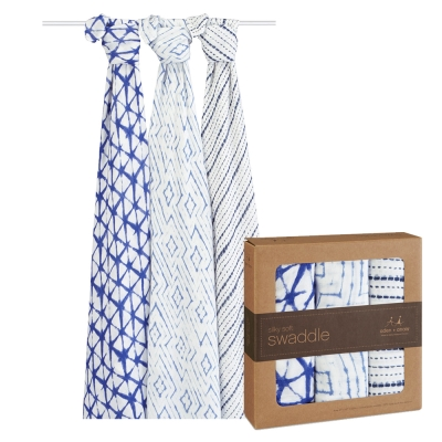 [美國aden+anais]新生兒竹纖維包巾