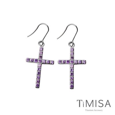 TiMISA《絢麗十字》純鈦耳環(雙色可選)