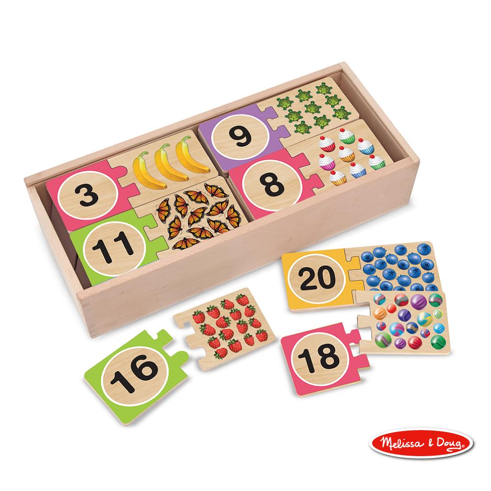 美國瑪莉莎 Melissa & Doug 益智 - 數字對照學習拼圖卡