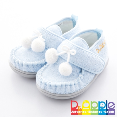 Dr. Apple 機能童鞋 雪白毛球輕巧小童款 水藍