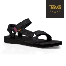 TEVA 美國-女 Original Puff 經典緹花織帶涼鞋 (黑)