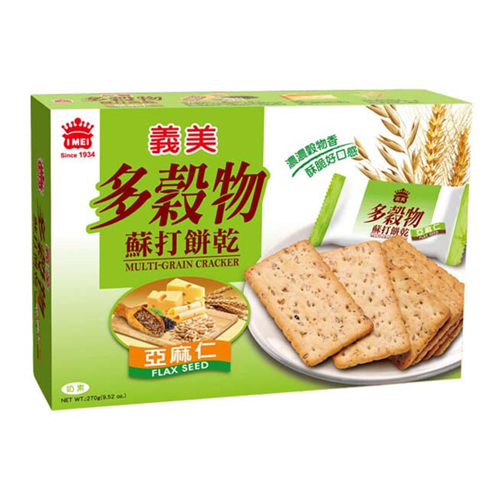 義美 多穀物亞麻仁蘇打餅(270g)