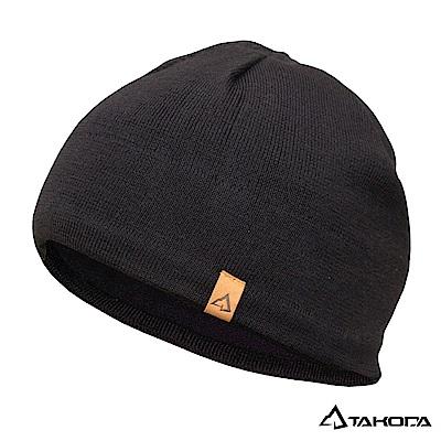TAKODA 戶外登山運動 針織羊毛混紡彈力毛帽 (黑色)