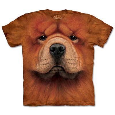 [摩達客]美國進口The Mountain鬆獅犬臉T
