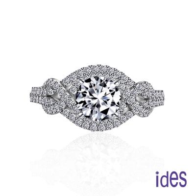 ides愛蒂思 GIA認證1克拉設計款F/VS2八心八箭完美3EX車工鑽石戒指/歐風奢華