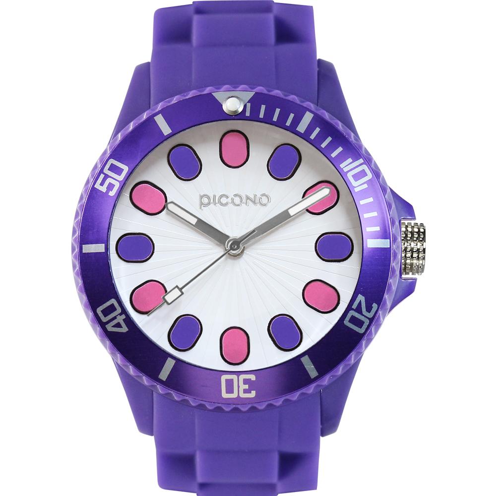 PICONO 玩樂街頭系列糖果派對腕錶-白/48mm