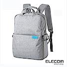 ELECOM 帆布多功能後背包S035(L)-灰
