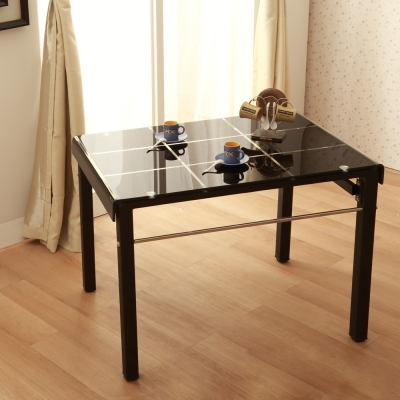 【Jiachu 佳櫥世界】Lusca洛斯卡簡約方格玻璃餐桌(共二色)