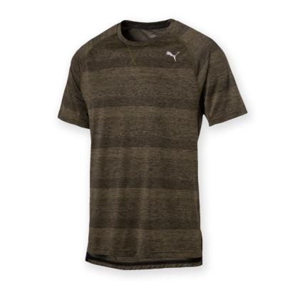 PUMA-男性慢跑系列Energy短袖T恤-深麻花橄綠-歐規