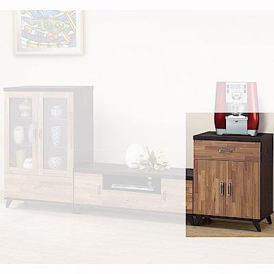 H&D 積層木2尺收納櫃 (寬60X深40X高80.5cm)