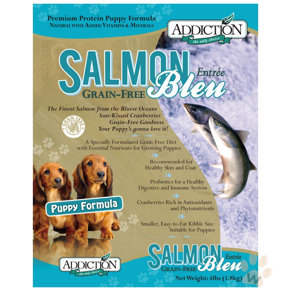 紐西蘭Addiction自然癮食 無穀藍鮭魚幼犬寵食犬糧1.8kg
